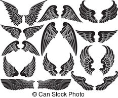 Halo clipart vector  Illustrations Wings Stock Wings