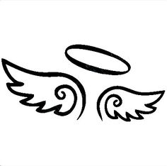 Wings clipart little angel Vinyl With decals Halo