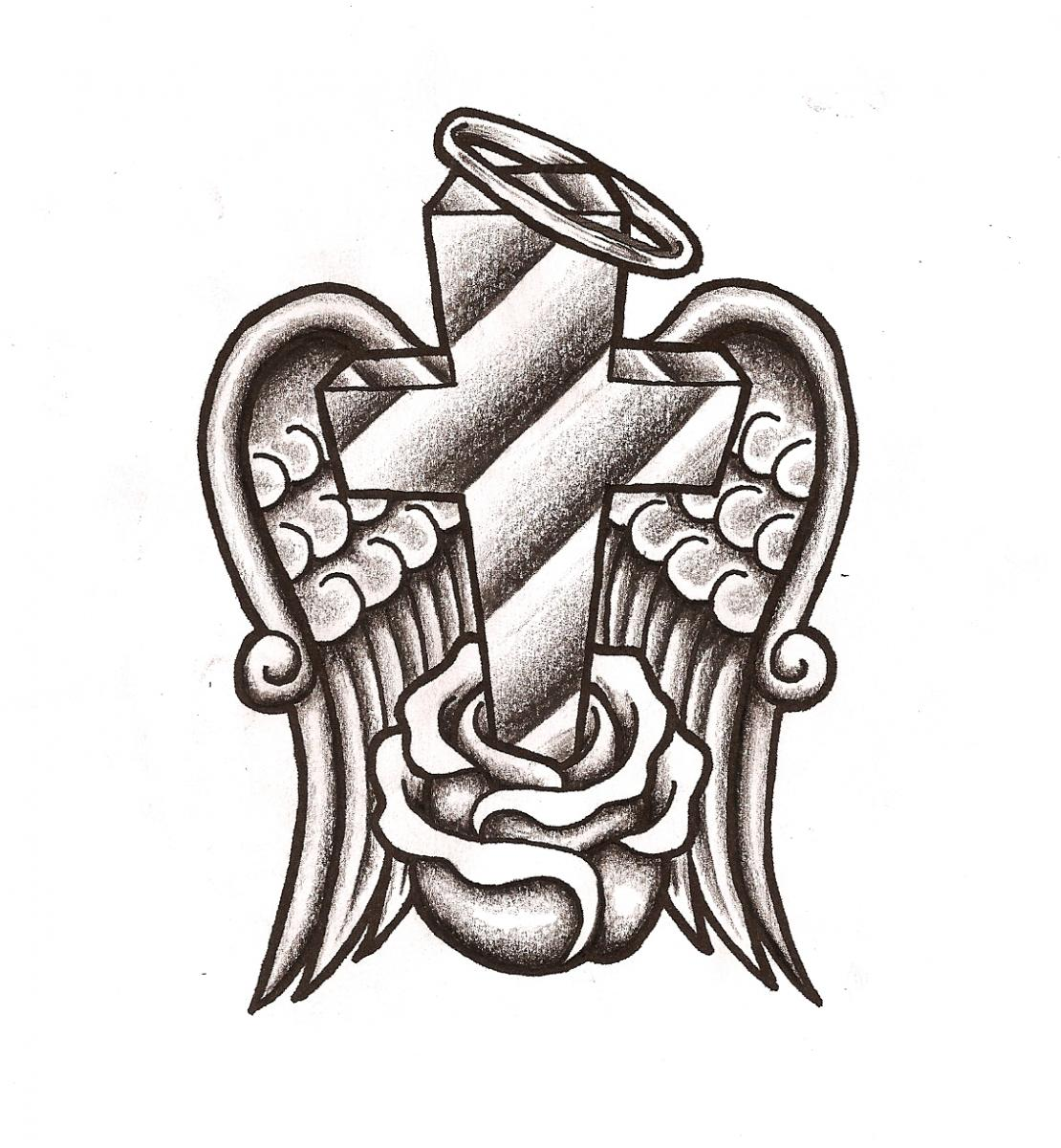 Halo clipart dove wings Crosses Ink Halo Tattoo Download