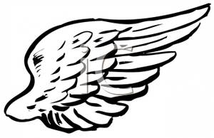 Halo clipart free wing Halo Angel #465acfd33671a24cfda26b193b075f46 #022009 A_Black_and_White_Angel_Wing_Royalty_Free_Clipart_Picture_090702