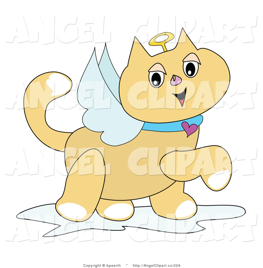 Angel clipart cat White with Clip Art Cat