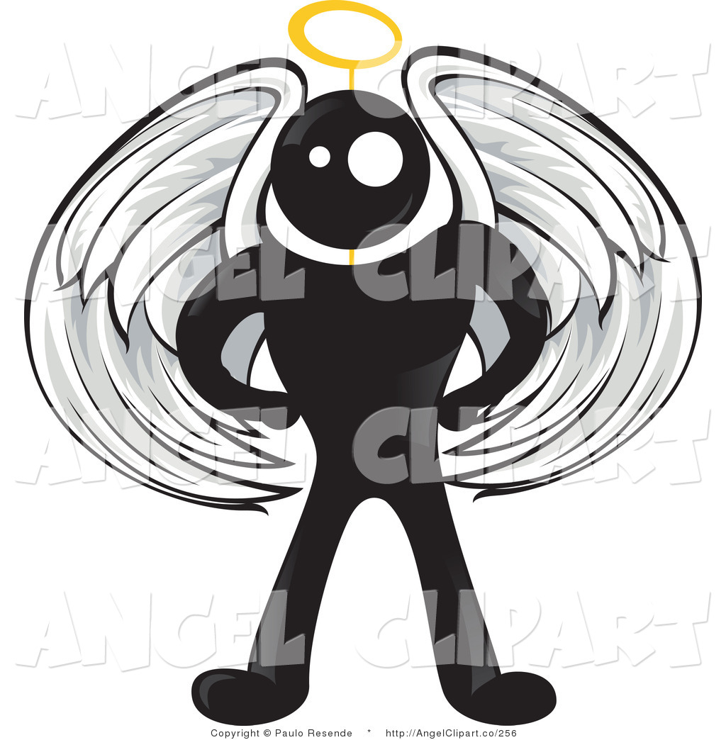 Halo clipart guardian angel Angel with Black Gold Guardian