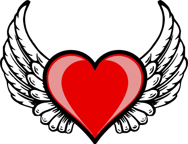 Wings clipart winged heart Free Wing Heart on Pinterest