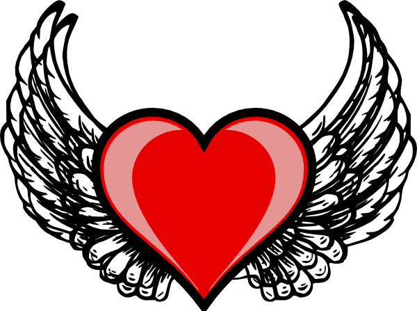 Wings clipart winged heart Clker this Download at Wing