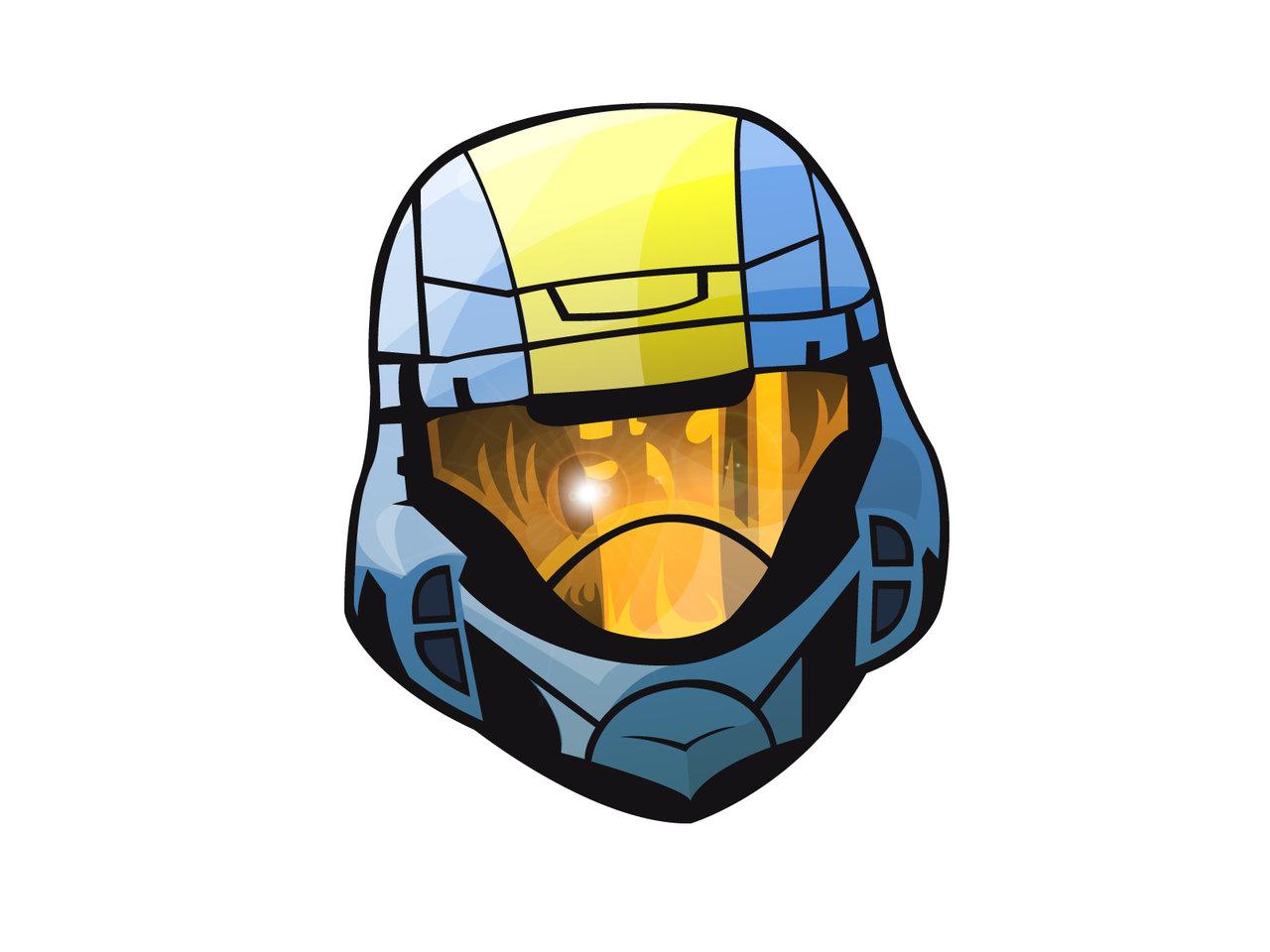 Halo clipart helmet Helmet by DeviantArt ODST helmet