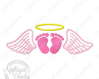 Wings clipart little angel 5x5 our Embroidery Fill Design