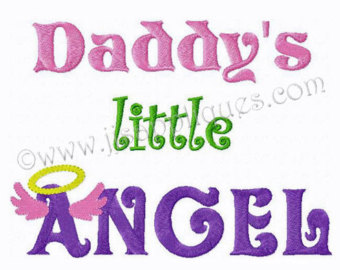 Halo clipart little angel Little Angel Design and saying