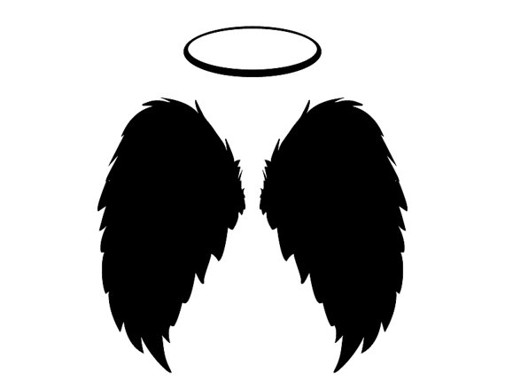 Halo clipart religious Flying ANGEL WINGS Religious Instant