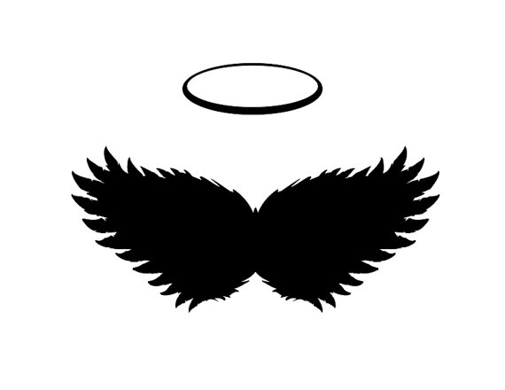 Dark Angel clipart religious Instant HALO Flying Scrapbooking Black