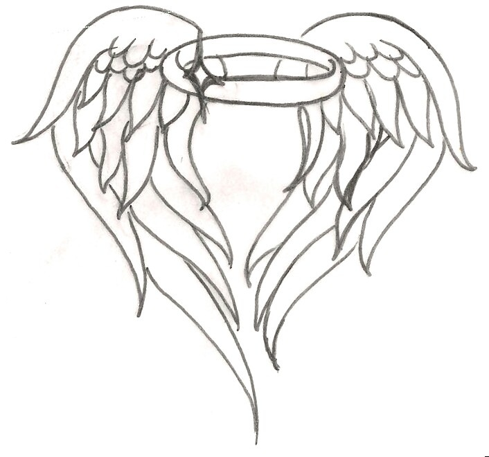 Halo clipart vector  wings draw angel Search