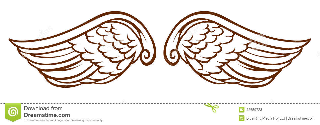 Halo clipart simple wing (67+) Free Wings Pictures Angels