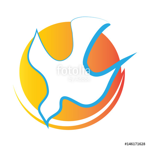 Halo clipart spiritual Dove fire vector halo symbol