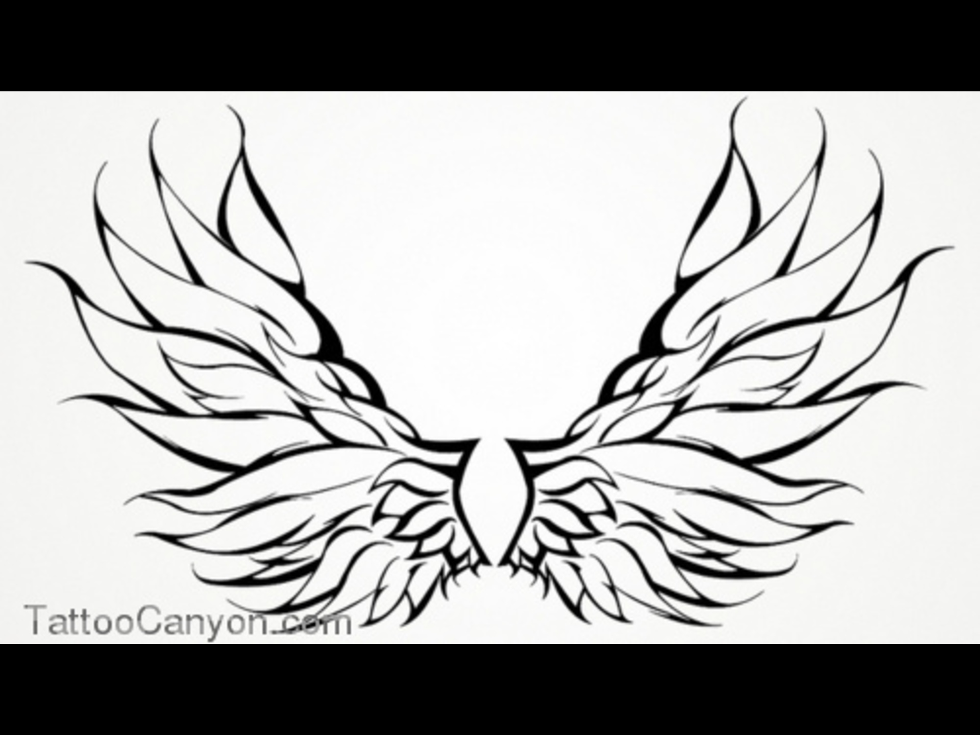 Halo clipart tribal Wings 10378 wings fairy outline