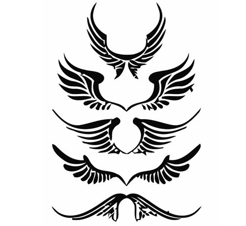 Halo clipart tribal Collection images angel Clipart wings