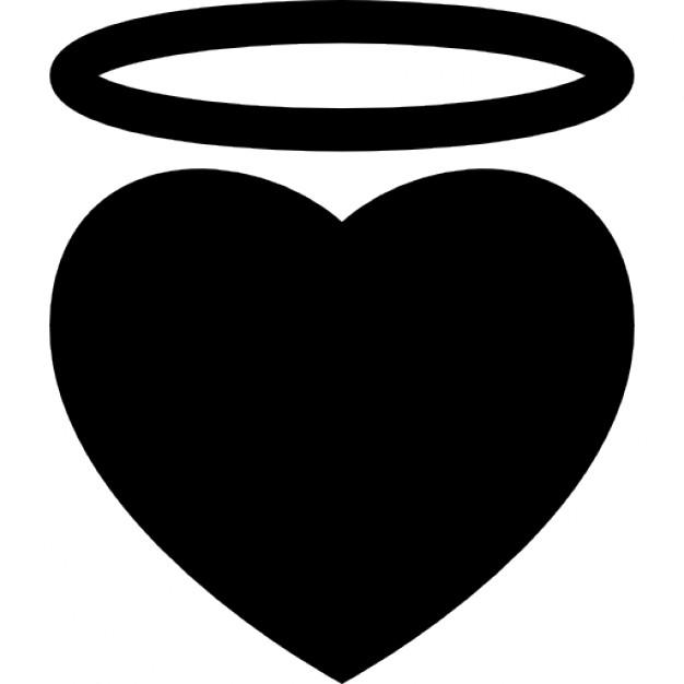 Halo clipart vector art Angel Free halo PSD heart