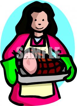Ham clipart pan A A A Woman Pan