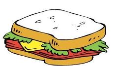 Ham clipart sandwhich Half sandwich Clip sandwich collection