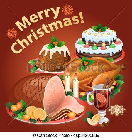 Ham clipart xmas Christmas Christmas traditional ham christmas