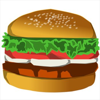 Burger clipart thick Hamburger and Hamburgers Photos Clipart
