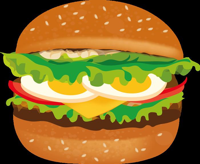 Burger clipart delicious food To com black Hamburger clip