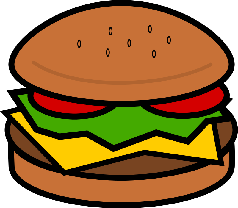 Hamburger clipart Free Hamburger Clip Domain Public