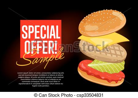 Hamburger clipart abstract Flyer background Burger Background Burger