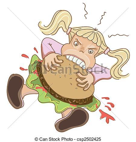 Hamburger clipart angry Eating Angry of csp2502425 hamburger