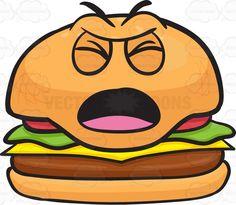 Hamburger clipart angry Clipart Patties Male Cartoon Hamburger