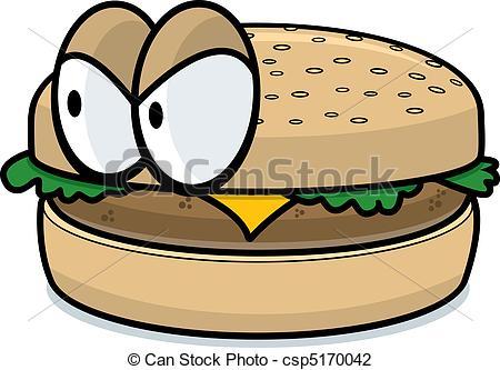Hamburger clipart angry Cheeseburger Angry Vector cartoon Cheeseburger