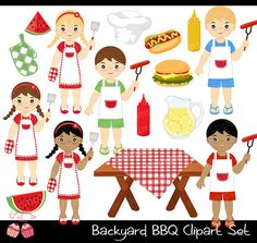 Hamburger clipart birthday bbq Backyard 1EverythingNice Cooking Etsy Clip