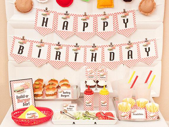 Hamburger clipart birthday bbq N Barbecue Printable via Birthday