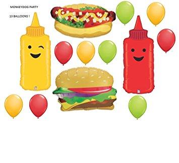 Hamburger clipart birthday bbq Birthday hotdog cookout set ketchup