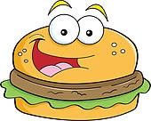 Hamburger clipart face Free Hamburger Character Cartoon Royalty