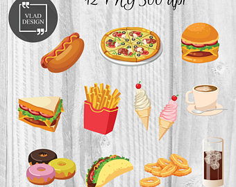 Hamburger clipart food item Cute elements Pizza Clipart Hamburger