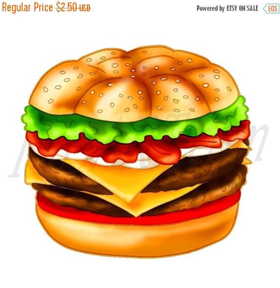 Hamburger clipart food item Hamburger Cheeseburger OFF burger art