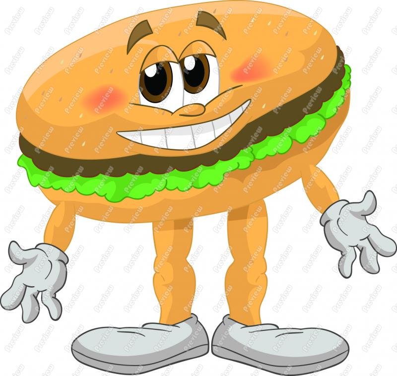 Hamburger clipart funny Funny Hamburger Download Free Clipart