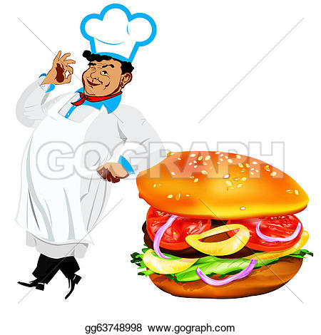 Hamburger clipart funny Hamburger and Illustration Clipart Illustrations