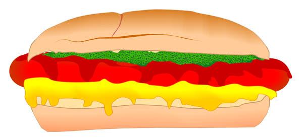 Hot Dog clipart plain burger Free Hot collection clipart art