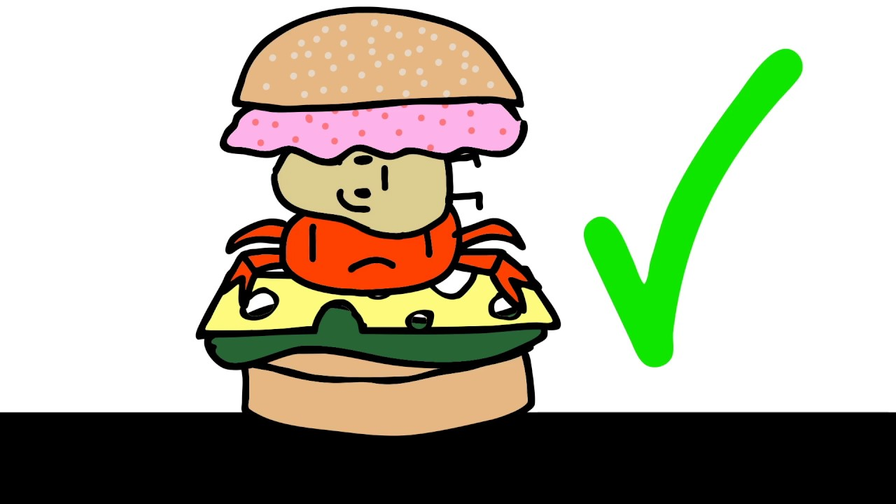 Hamburger clipart krabby patty LEAKED Secret Patty Secret YouTube