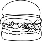 Black clipart hamburger And Clipart White Clipart Clipart