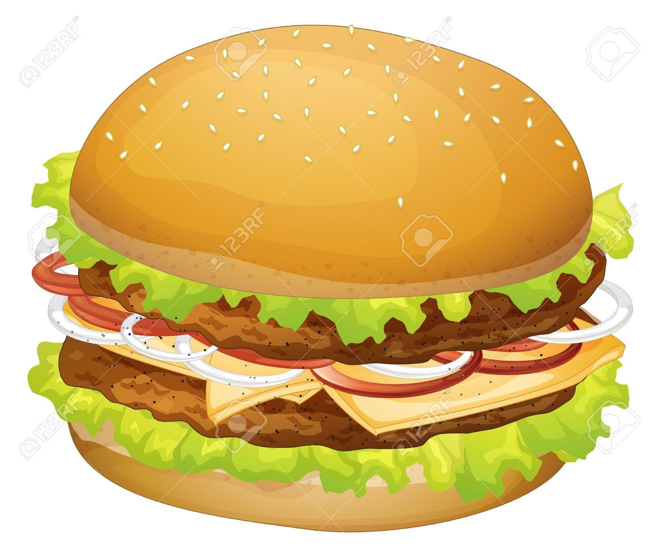 Hamburger clipart transparent background Clipart Cheeseburger Art hamburger Hamburger
