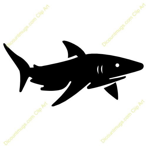 Bull Shark clipart stencil Friendly art clip collection clipart