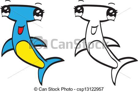 Hammerhead clipart cartoon Of An Cute a cartoon