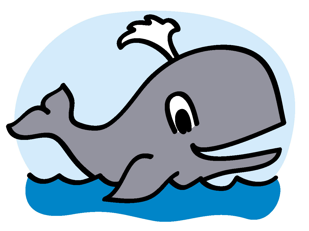 Moving clipart whale #15