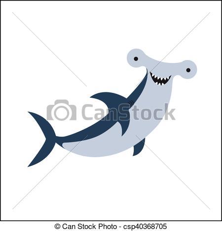 Hammerhead clipart fish  Illustration Hammerhead Fish Cartoon