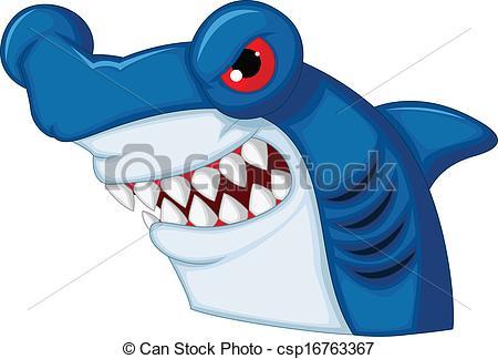 Hammerhead clipart jaws Csp16763367 mascot Vector shark cartoon