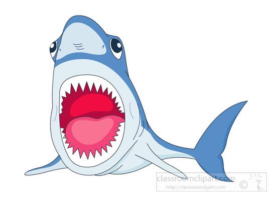 Hammerhead clipart open shark mouth With Shark Size: Clipart Pictures