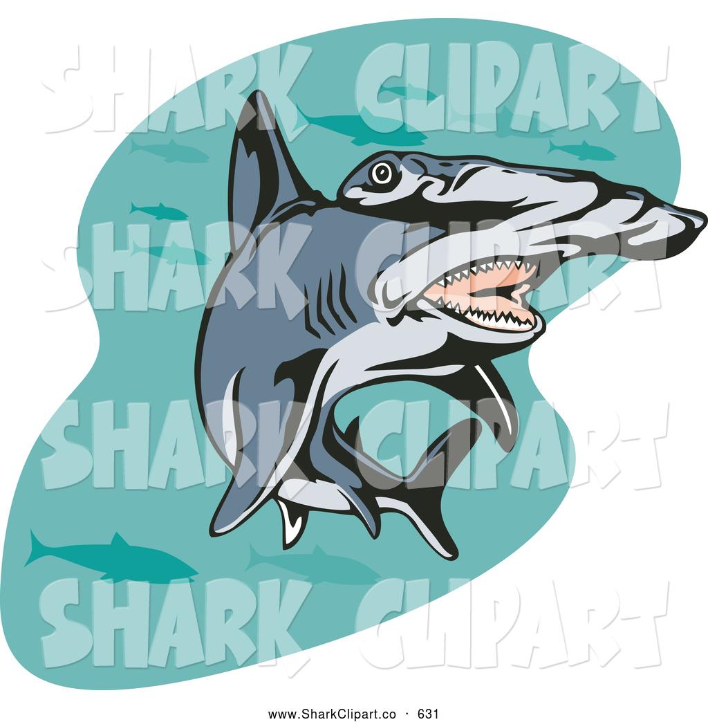 Hammerhead clipart open shark mouth Art Clip with Shark Open