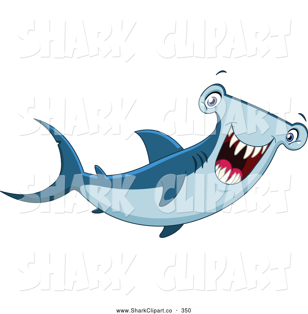 Hammerhead clipart sea life Happy Smiling Shark Page Sea