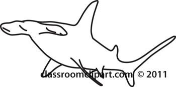 Hammerhead clipart shark outline Hammerhead shark_03 shark shark_03 :